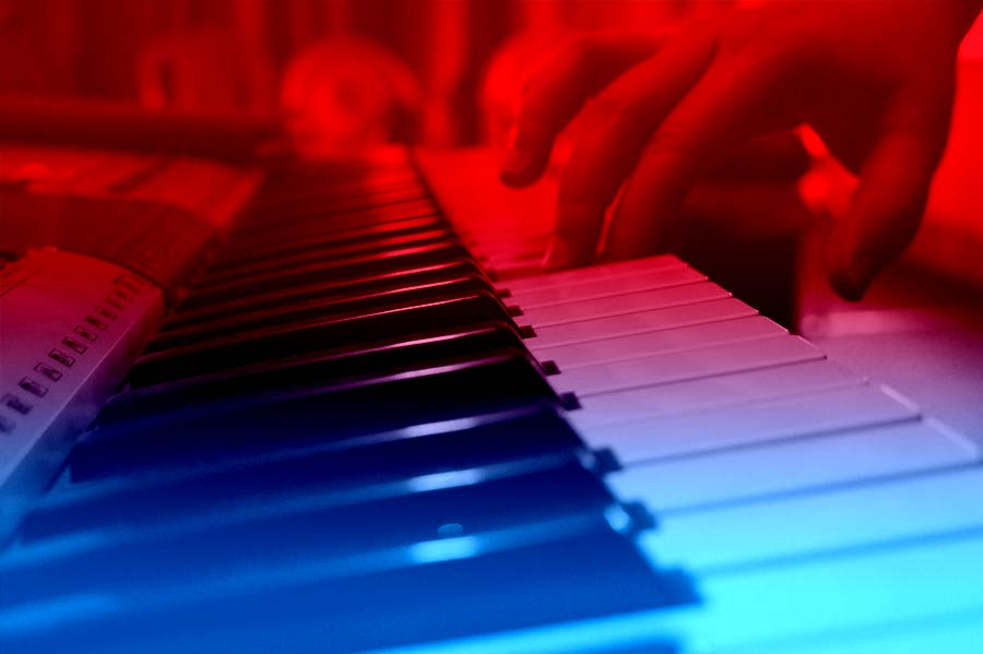 Pianist close-up